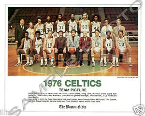 1976 BOSTON CELTICS NBA WORLD CHAMPIONS TEAM GLOSSY 8X10 ...