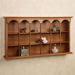 MacKenzie Wooden Wall Curio Display Shelf