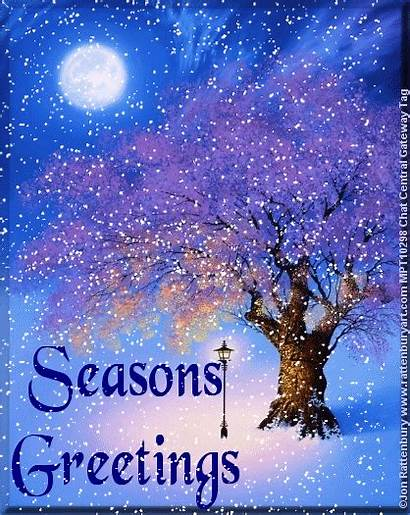 Animated Greetings Seasons Winter Snow Scene Christmas