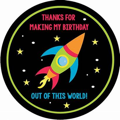 Birthday Space Party Invitations Thank Printable Cards