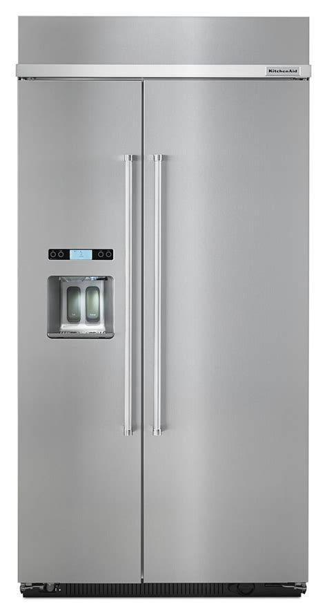 Kitchenaid Refrigerator Leaking Water From Dispenser by Kitchenaid Built In Side By Side Refrigerator Kbsd612ess