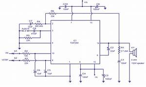 Draw Your Wiring   Circuit Diagram Of Ic Tda 7294 100 Watt