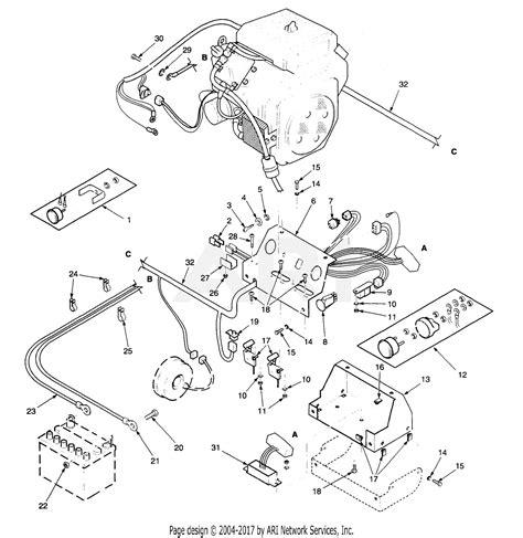 Hardware and software for diagnostics. Scag STT61B-25CH (S/N 4330001-4339999) Parts Diagram for Electrical System (Kohler)