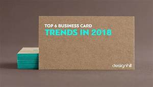 top 6 business card trends in 2018 With business card trends