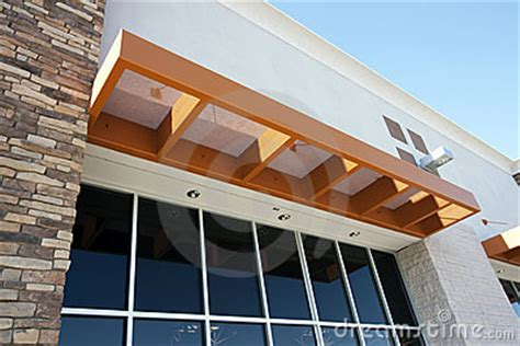 modern metal awning storefront stock photography image