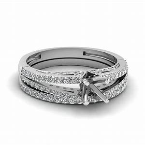 loop diamond ring setting with two matching band With wedding ring settings without diamonds