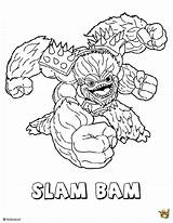 Bam Skylanders Sam Fr Coloriage Est Un Coloring Slam Credit Larger sketch template