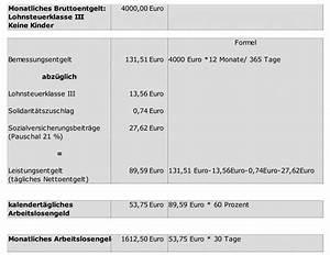 Berechnen Arbeitslosengeld : dauer und h he des arbeitslosengeldes b rgerratgeber ~ Themetempest.com Abrechnung