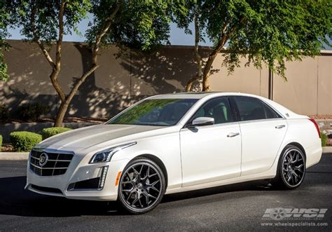 cadillac cts   gianelle puerto  matte black wheels wheel specialists