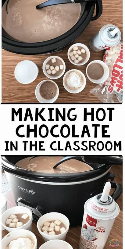 Classroom Chocolate Making Winter Cooking Preschool Activities