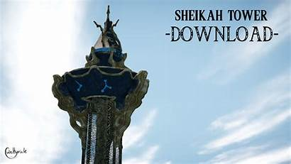 Sheikah Tower Dl Mmd Deviantart 3d Background