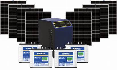 Solar System Kw Grid Complete Power Batteries