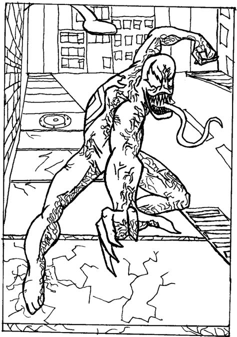 printable venom coloring pages  kids