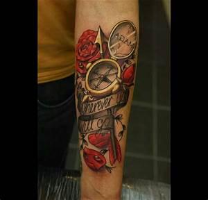 Tatouage De Rose : top 50 des plus beaux tatouages de boussole ~ Melissatoandfro.com Idées de Décoration