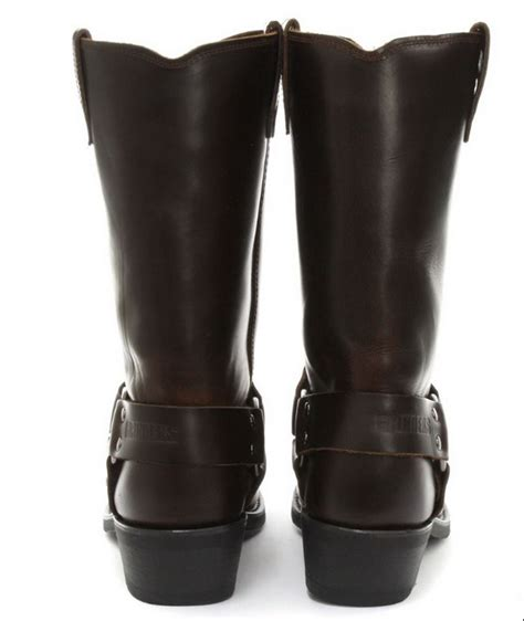 real biker boots unisex real leather hi biker boots rock punk grinders