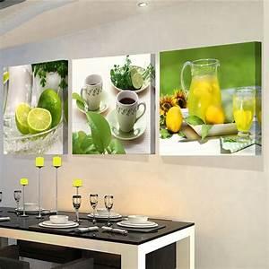 Gemälde Für Wohnzimmer : 3 panels gem lde f r die k che obst wand dekor moderne leinwand kunst wandbilder f r wohnzimmer ~ Markanthonyermac.com Haus und Dekorationen