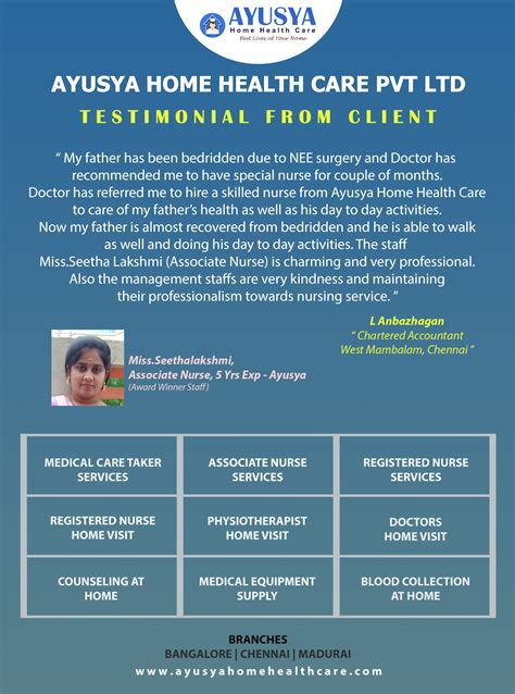 ayusya home health care pvt  bangalore chennai madurai