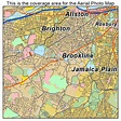Aerial Photography Map of Brookline, MA Massachusetts
