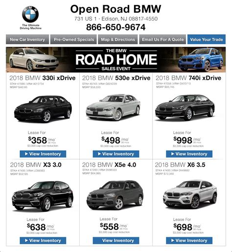 Bmw Of New Jersey by Open Road Bmw Of Edison New Jersey Bmw Dealers