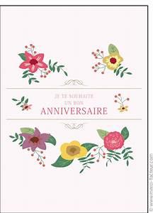 carte anniversaire fleurs envoyer des cartes anniversaire With affiche chambre bébé avec aquarelle fleurs anniversaire
