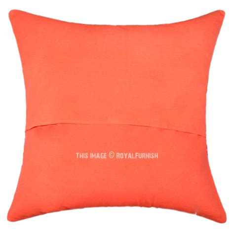 Big Pillows For Sofa by 24 Quot Oversized Large Orange Tropical Kantha Sofa