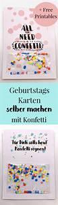 Basteln Mit Kindern Schnell Und Einfach : geburtstagskarte zum ausdrucken selber machen mit konfetti ~ A.2002-acura-tl-radio.info Haus und Dekorationen