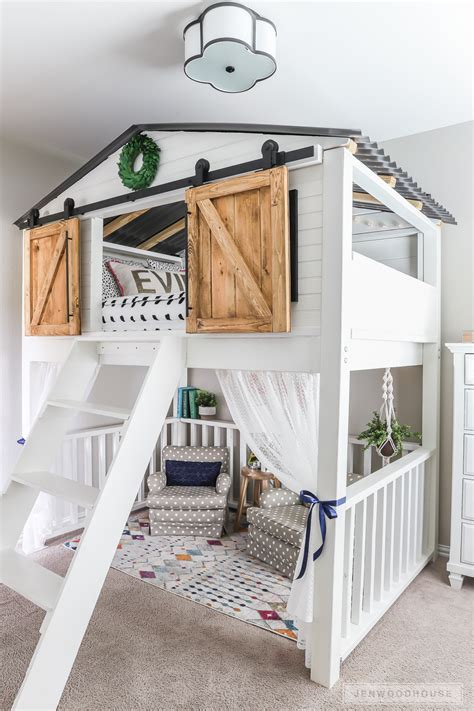 Loft Bed by How To Build A Diy Sliding Barn Door Loft Bed Size