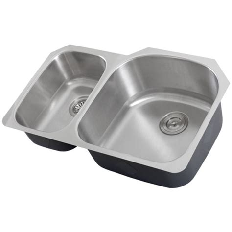 ticor s105dr undermount 16 g stainless steel double bowl