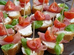 Fingerfood Rezepte Schnell Und Einfach : tapas tomaten parmaschinken schnittchen rezept ~ Articles-book.com Haus und Dekorationen