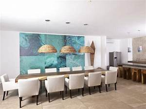 tableau abstrait moderne pour decorer la salle a manger With tableau salle a manger
