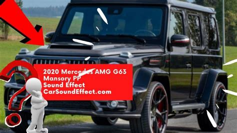 Its passion, perfection and power make every journey feel like a victory. 2020 Mercedes AMG G63 Mansory PP MP3 - Car Sound Effect