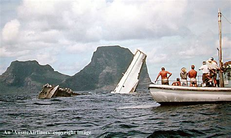 Flying Boat To Lord Howe Island by Ball S Pyramid From The Window Of A Sandringham Flying Boat
