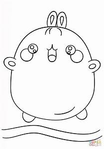 Kawaii Molang Coloring Page Free Printable Coloring Pages