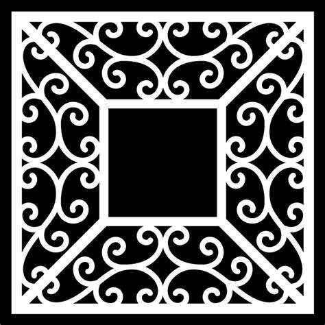 I thought this would look great with gold foil on a black tote. Swirl Frames 1 & 2 - Free Cut Files