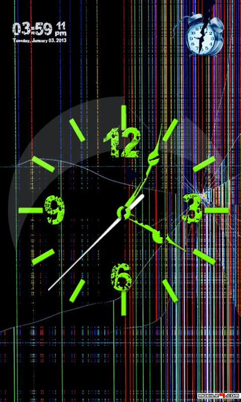 Digital Clock Clock Live Wallpaper Mobile9 by I Cracked My Mobile Phone Screen Clock Live