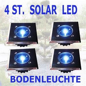 Led Solar Bodenleuchte : 4er set solar led wei bodenstrahler bodenleuchte bodeneinbaustrahler eckig ebay ~ Eleganceandgraceweddings.com Haus und Dekorationen
