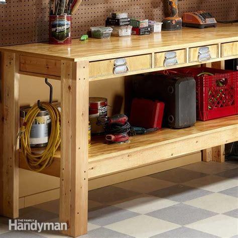 workbench plans workbenches  family handyman