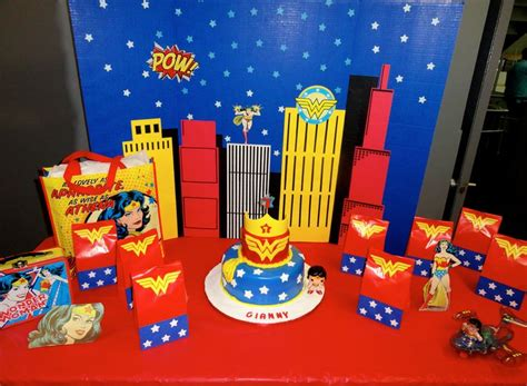 wonderwoan birthday party decor  woman birthday