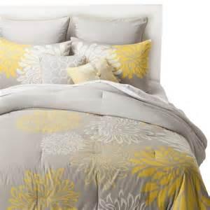 anya 8 piece floral print bedding set gray yellow target
