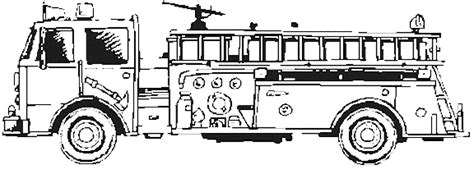 print  educational fire truck coloring pages