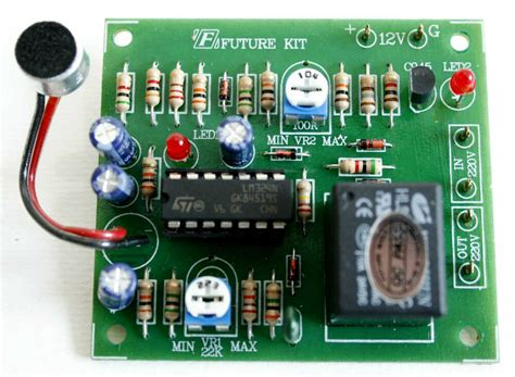 Sound Switch Controller Delay Time Off Relay Vdc