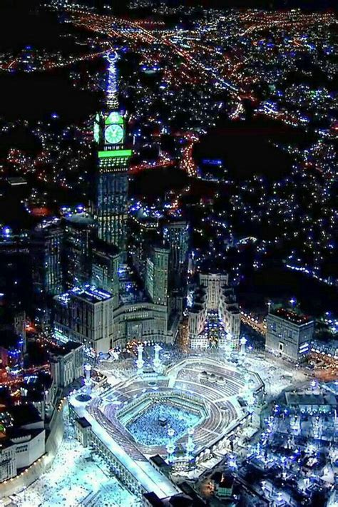 beautiful mecca  night holy place masjid al haram