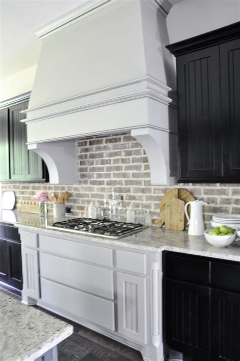 Stunning Painted Kitchen Vent Hood With Brickback  Decor. Awesome Outdoor Kitchen. Kitchen Tools Plastic. Kitchen Bench Edging Adelaide. Valance Lighting Kitchen Cabinets. White Gloss Kitchen Shelves Ikea. Cheap Kitchen Tile Uk. Kitchen Table Nook. Kitchen Shelves Perth