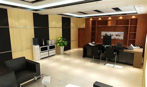 bureau manager manager office design with partition 3d