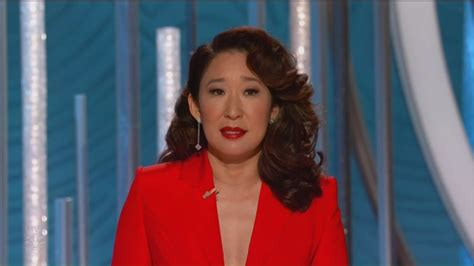 sandra oh golden globes win sandra oh grateful her parents see her win at the 2019