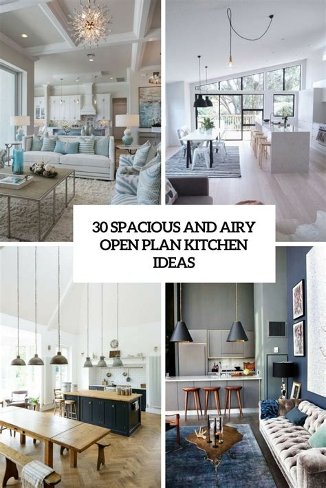 spacious  airy open plan kitchen ideas digsdigs