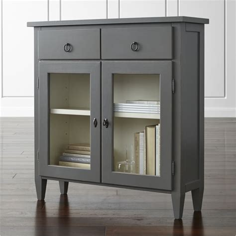 storage console cabinet stretto varentone entryway cabinet crate and barrel
