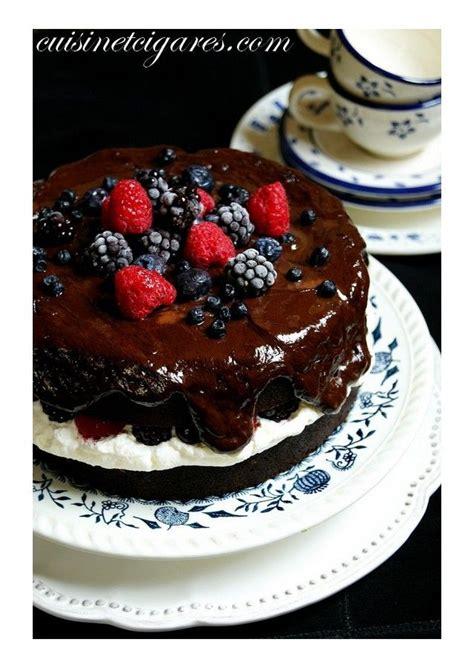 cuisine mascarpone gâteau guinness chocolat fruits rouges et sa crème