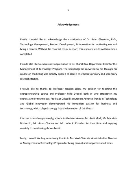 acknowledgement letter  phd thesis