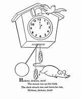 Dock Hickory Dickory Coloring Nursery Rhymes Goose Mother Preschool Poems Sheets Rhyming Clock Visit Bluebonkers Popular Coloringhome Monster Energy sketch template